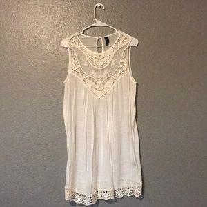 White Windsor beach cover up/ dress